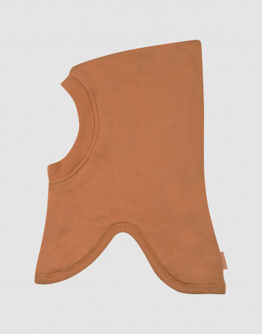 Children's wool terry balaclava- Caramel