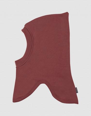 Children's wool terry slip hat- rouge