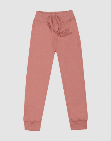 Children's wool terry trousers- Dark Pink