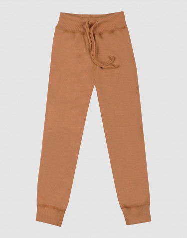 Children's wool terry trousers- Caramel