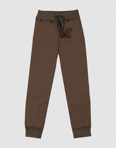 Children's wool terry trousers- Dark Chocolate