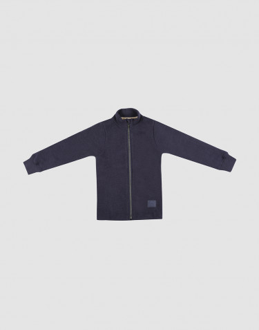 Children's merino wool fleece jacket- Blue