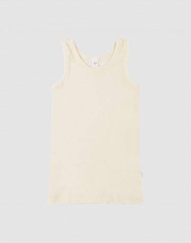 Children's Organic Wool/Silk blend vest- nature