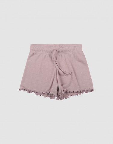 Children's organic wool/silk shorts- Pastel Pink