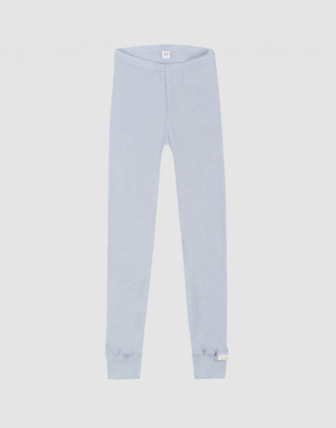 Children's organic wool/silk leggings- light blue