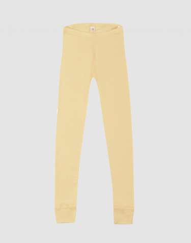 Kids' Organic Wool/ Silk Leggings Light Yellow