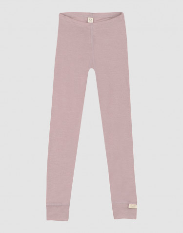 Children's organic wool/silk leggings- Pastel Pink