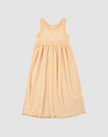 Children's organic wool/silk dress- apricot/nature