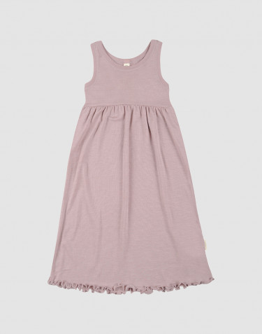 Children's organic wool/silk strap dress- Pastel Pink