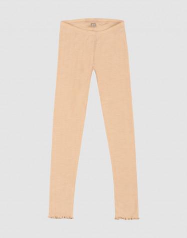 Children's merino wool/silk pointelle leggings
