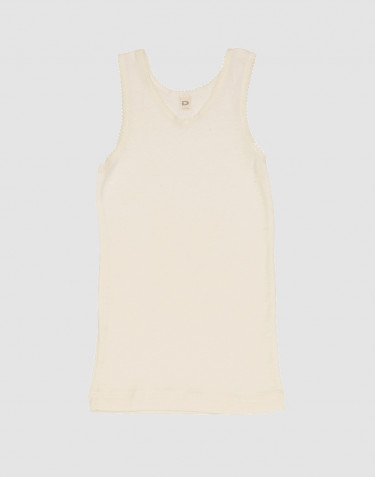Girls' merino wool tank top- nature