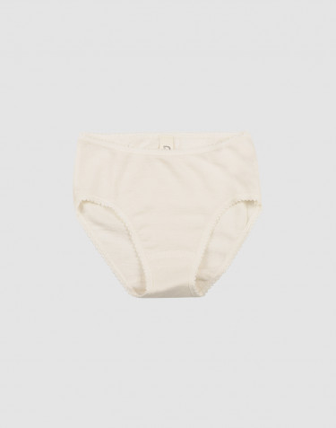 Girls' merino wool briefs- nature