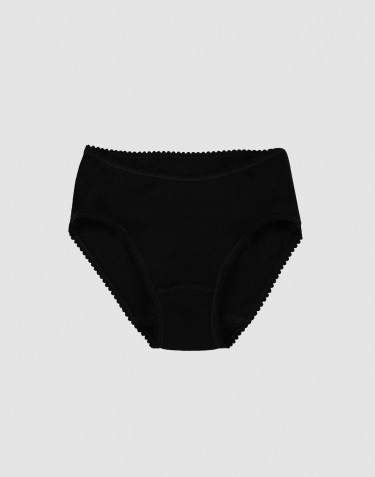 Girls' merino wool briefs- black