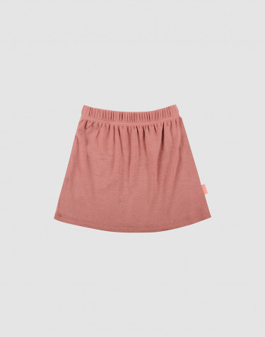Children's merino wool skirt- Dark Pink