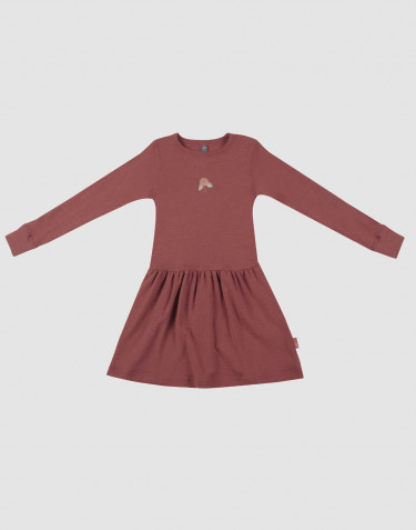 Children's wool dress- rouge