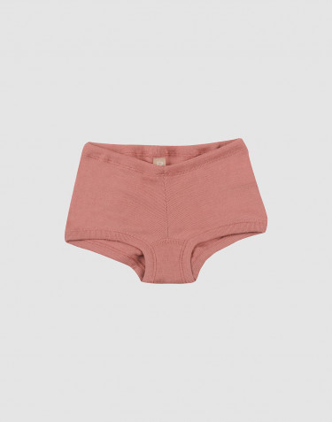 Girls organic merino wool hipsters- Dark Pink