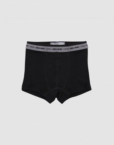 Boys' organic merino wool boxers- black