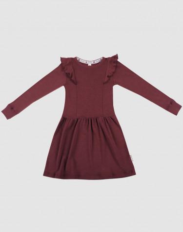 Children's organic merino wool dress- Christmas red