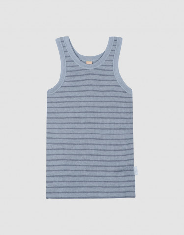 Children's wool vest- Blue Stripe