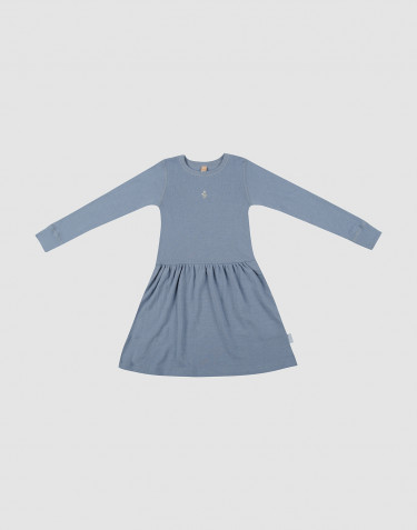 Children's wool dress- Blue