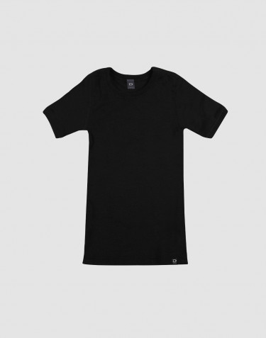Kids' organic merino wool T-shirt- black