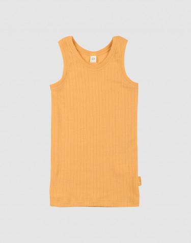 Children's wide rib knit base layer- yellow