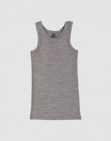 Children's ribbed tank top- grey melange