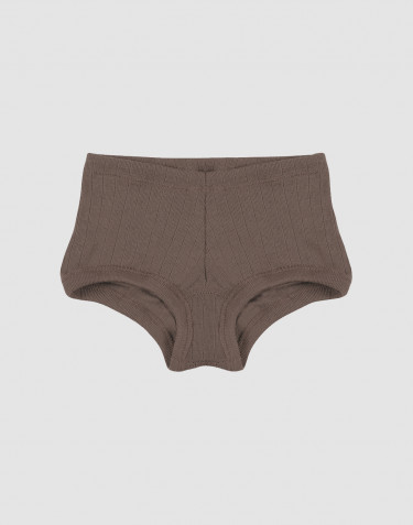 Girls' ribbed hipsters- fudge