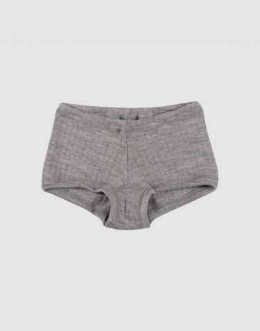 Girls' ribbed hipsters- grey melange