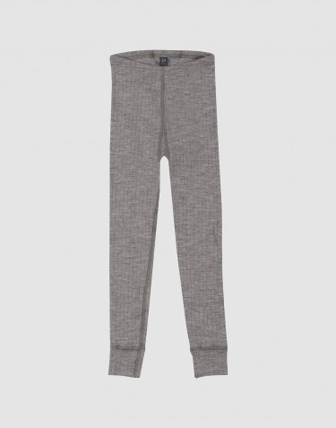 Children's ribbed leggings- grey melange