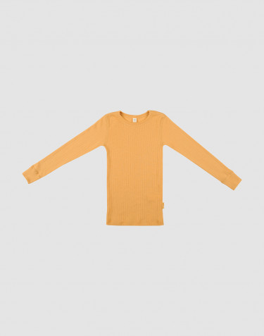 Children's wide knit woollen top- yellow