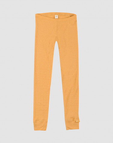 Children's rib knit leggings- yellow