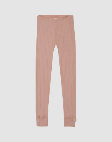 Children's rib knit leggings- powder