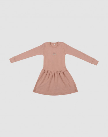 Children's wool knit dress- powder