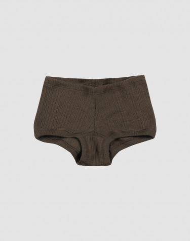 Children's organic merino wool hipsters- Dark Chocolate