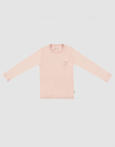 Children's cotton pyjama top- rose