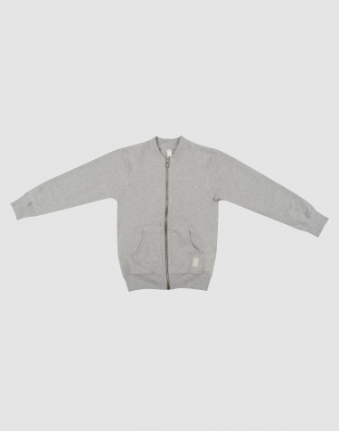 Children's sweatshirt with zip- grey melange
