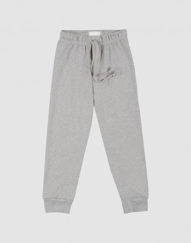 Children's cotton pyjama bottoms- grey melange