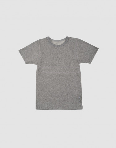 Kids' organic cotton T-shirt- grey melange