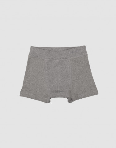 Boys' organic cotton boxers- grey melange