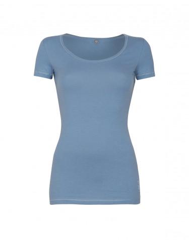 Women's cotton t-shirt- blue