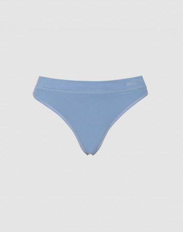 DILLING women's cotton thong- blue