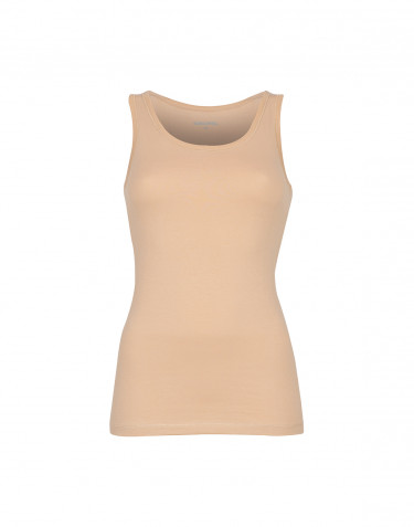 Women's cotton tank top- beige