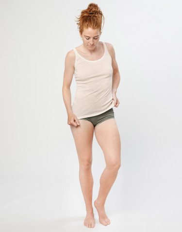 Women's merino midi briefs- olive green