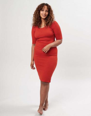 Women's short sleeve dress - Red