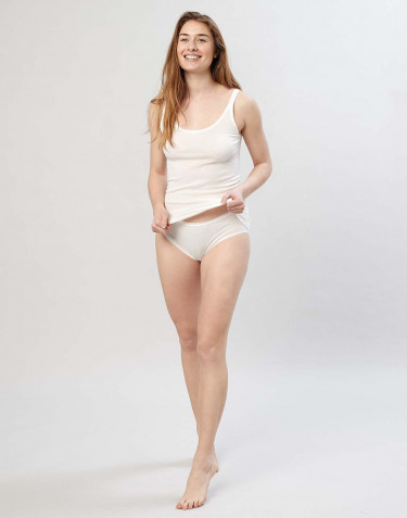 Women's midi merino wool briefs- nature