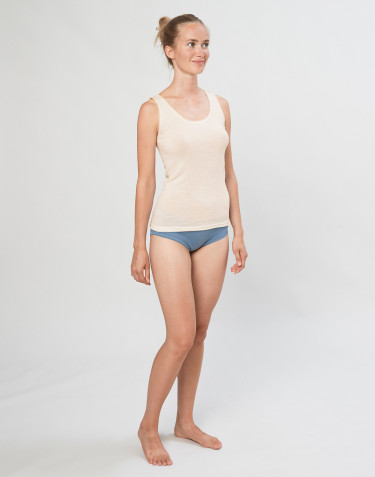 Women's merino wool midi briefs- Blue