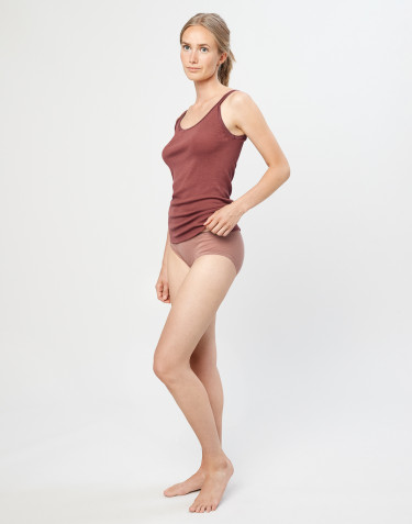 Women's midi merino wool briefs- powder