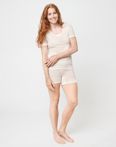 Women's merino wool shorts- nature
