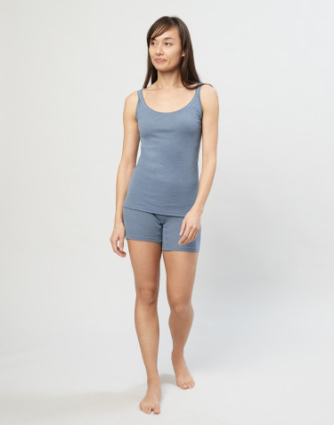 Women's merino wool pant shorts- Blue